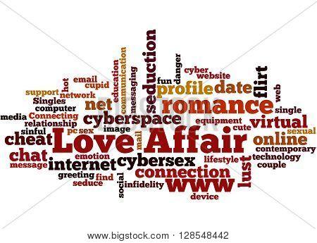 Love Affair, Word Cloud Concept