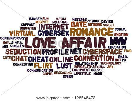 Love Affair, Word Cloud Concept 4