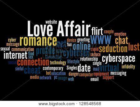 Love Affair, Word Cloud Concept 8