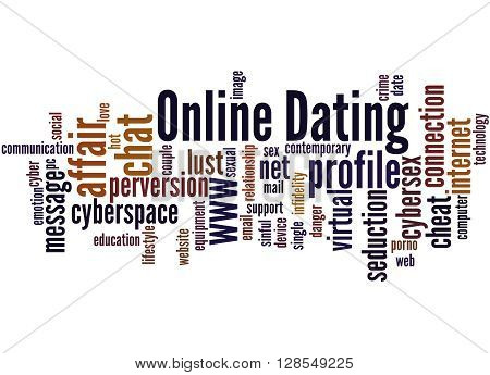 Online Dating, Word Cloud Concept