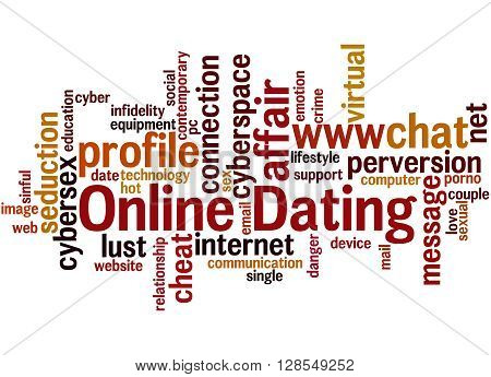 Online Dating, Word Cloud Concept 3