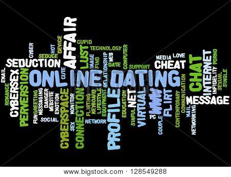 Online Dating, Word Cloud Concept 6