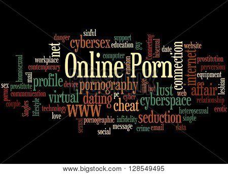 Online Porn, Word Cloud Concept 7