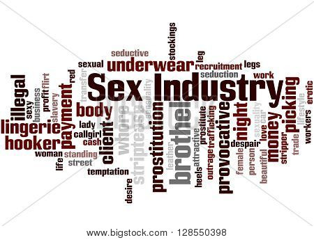 Sex Industry, Word Cloud Concept