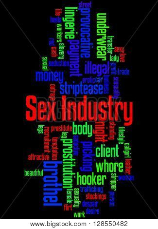 Sex Industry, Word Cloud Concept 7
