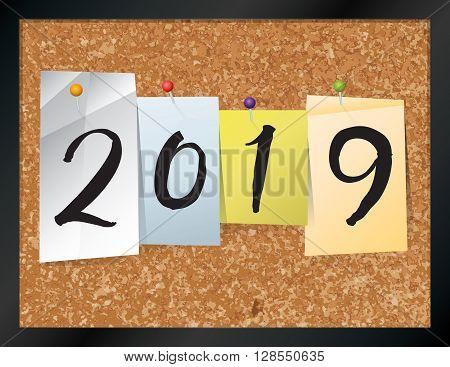 2019 Bulletin Board Theme Illustration