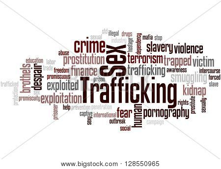 Sex Trafficking, Word Cloud Concept 8