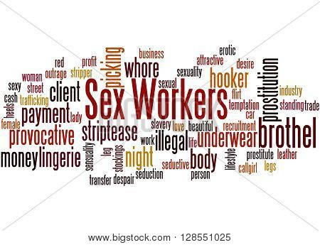 Sex Workers, Word Cloud Concept 2