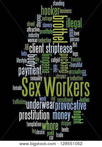 Sex Workers, Word Cloud Concept 4