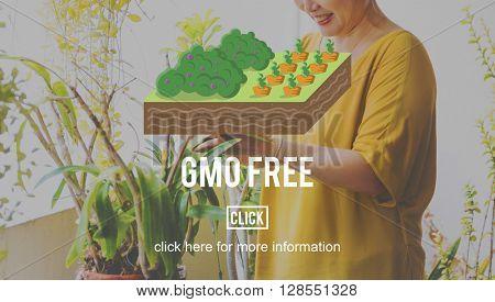 GMO Free Organic Natural Farming Concept