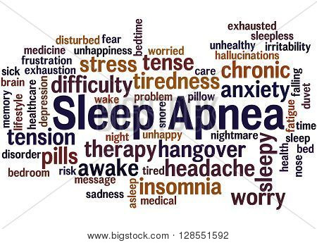 Sleep Apnea, Word Cloud Concept 6