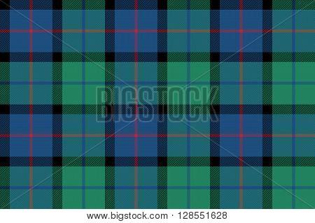 flower of scotland tartan seamless pattern fabric texture .Vector illustration. EPS 10. No transparency. No gradients.