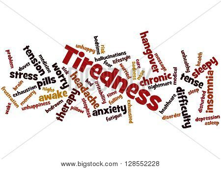 Tiredness Word Cloud Concept 6