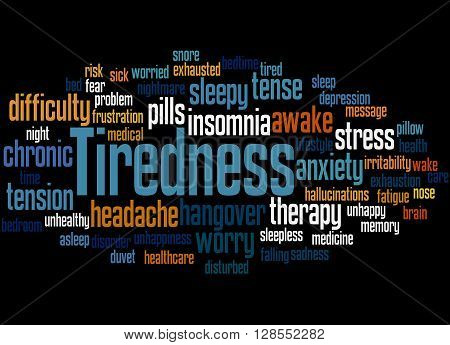 Tiredness Word Cloud Concept 9