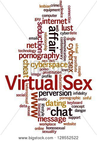 Virtual Sex, Word Cloud Concept