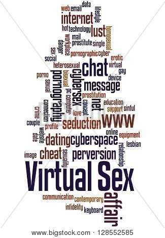 Virtual Sex, Word Cloud Concept 4