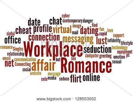 Workplace Romance, Word Cloud Concept