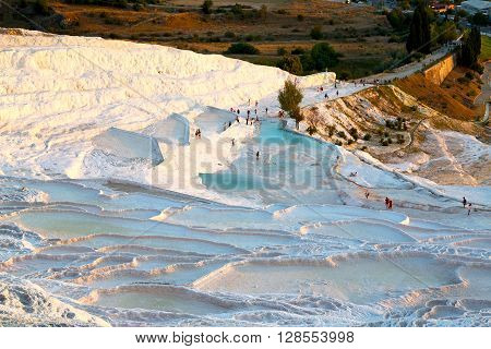 Bath And  Water  Pamukkale  Old Calcium