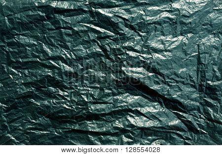 Cyan Plastic Bag Texture.