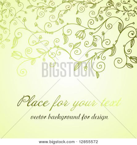 Vector floral background for design