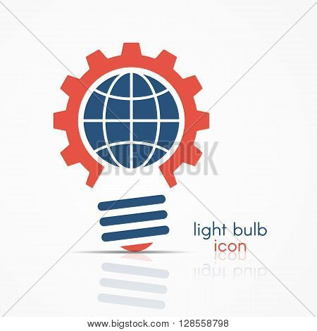 Red Light Bulb Idea Icon With Circuit Board Icon Inside