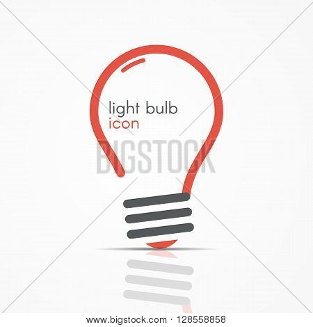 Red Light Bulb Icon