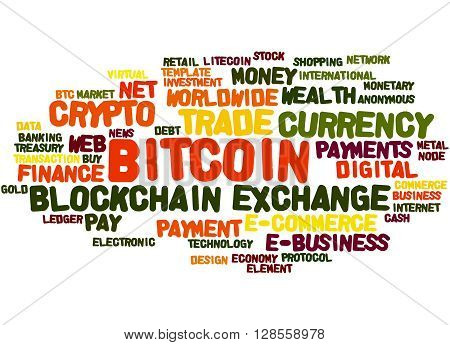 Bitcoin, Word Cloud Concept