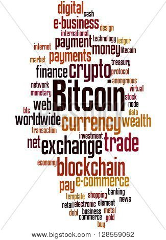Bitcoin, Word Cloud Concept 6