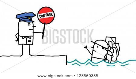 cartoon characters - police control - clandestine