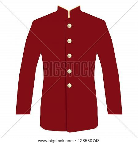 Vector illustration hotel service uniform for bellboy.
