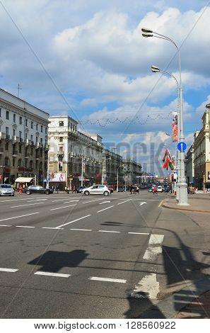Street Scene In Minsk, Belarus