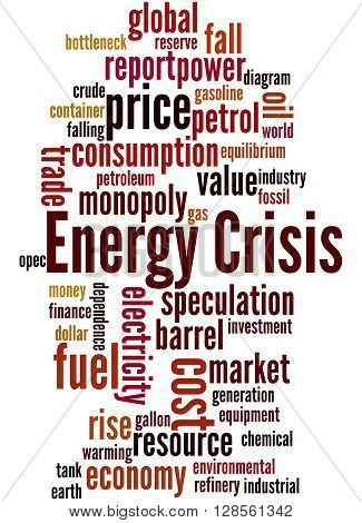 Energy Crisis, Word Cloud Concept 2