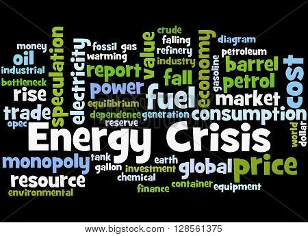 Energy Crisis, Word Cloud Concept 3