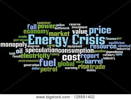 Energy Crisis, Word Cloud Concept 5