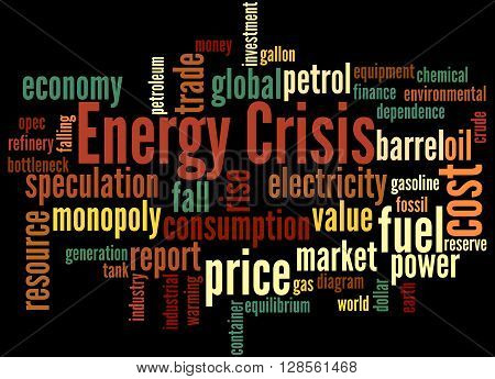 Energy Crisis, Word Cloud Concept 8