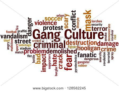 Gang Culture, Word Cloud Concept 9