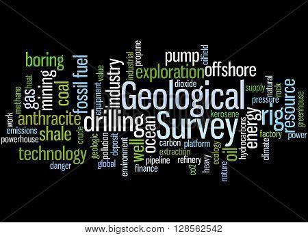 Geological Survey, Word Cloud Concept 6