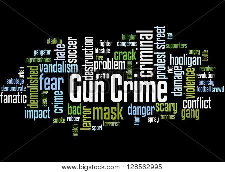 Gun Crime, Word Cloud Concept