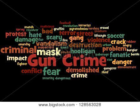 Gun Crime, Word Cloud Concept 2