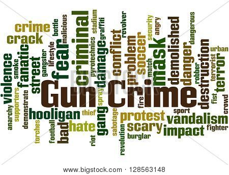 Gun Crime, Word Cloud Concept 5