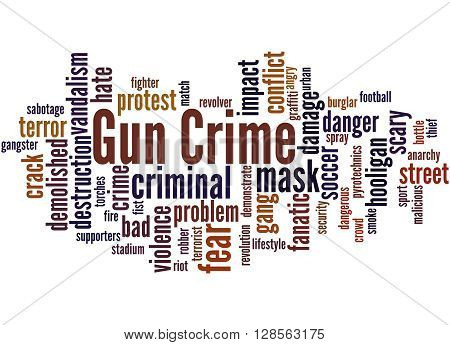 Gun Crime, Word Cloud Concept 6