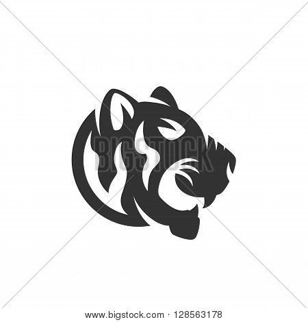 Tiger logo. Tattoo tiger logotype on white background - stock vector