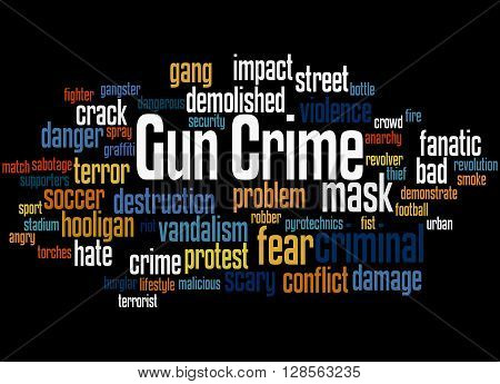 Gun Crime, Word Cloud Concept 9