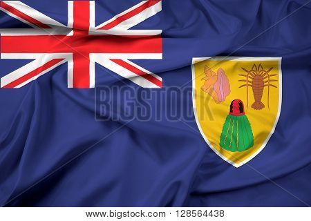 Waving Flag Of Turks And Caicos Islands