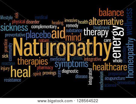Naturopathy, Word Cloud Concept 6
