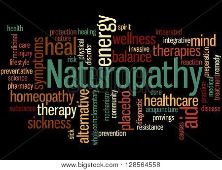 Naturopathy, Word Cloud Concept 8