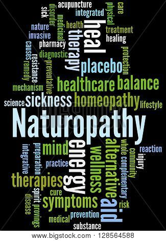 Naturopathy, Word Cloud Concept 9
