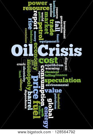 Oil Crisis, Word Cloud Concept 9
