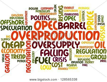 Opec Overproduction, Word Cloud Concept 2