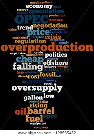 Opec Overproduction, Word Cloud Concept 9